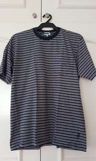 Blue Striped Shirt with Breast Pocket