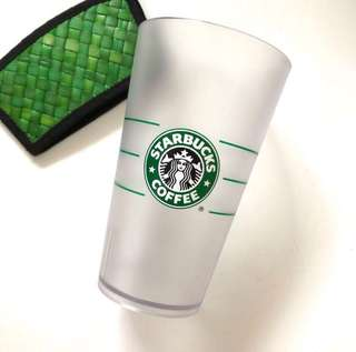 Starbucks plastic cups middle size