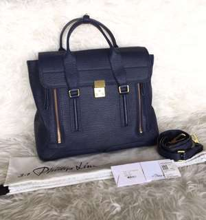 Phillip Lim Large Pashli Navy GHW | in Very Good Condition | with Bag, Strap, Dustbag, Tag and Booklet