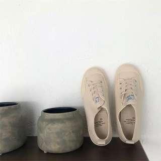 超Q韓妞奶茶色休閒鞋