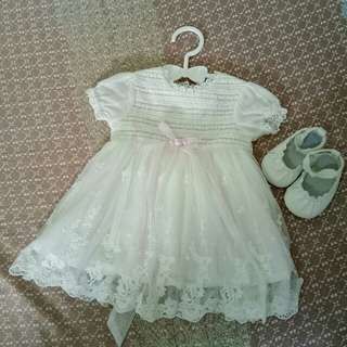 Baptismal dress with free shoes