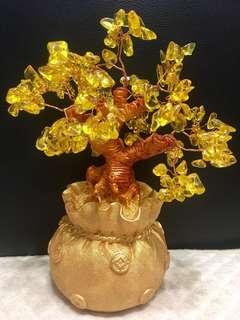 Medium wealth fetching yellow crystal tree(中号招财树)