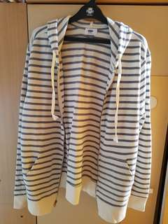 Light Grey and White Striped Jacket