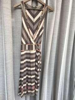 🚚 全新-條紋一片式,圍裹式洋裝 #女裝半價拉