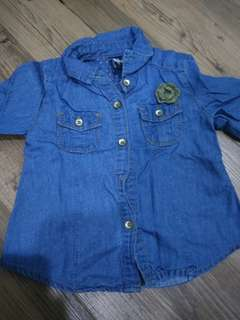 Baby Girl's Denim Shirt (6-9mo)