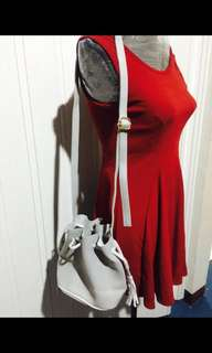 Sling bag gray small free af within MM