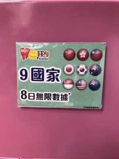 happy9國8日數據卡