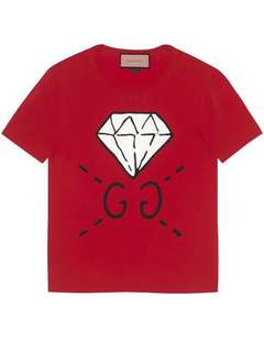 Gucci Diamond Print Cotton Jersey T-Shirt tee S balenciaga chanel dior off white givenchy vetements
