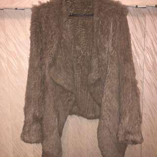 100% Real rabbit fur jacket.