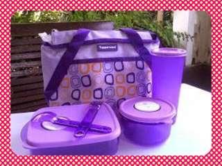 Jual Tupperware Lunch Box Set Violet