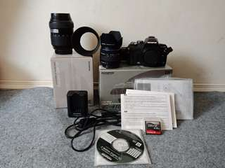 Olympus E-410 body+lensa kit 14-42mm + lensa 40-150mm fullset.