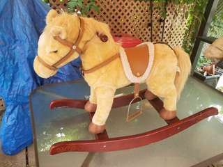 Wooden rocking horse for toddlers