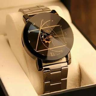 Luxurious Compass  Design Stainless Steel Wristwatch