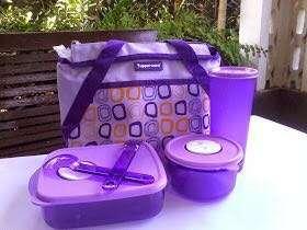 Jual Lunch Box Tupperware Violet Ungu