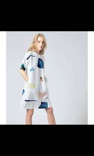🚚 Our second nature osn birthstone shift white dress S