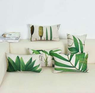 🍀Watercolor Plant Rectangular Cushion Cover🍀