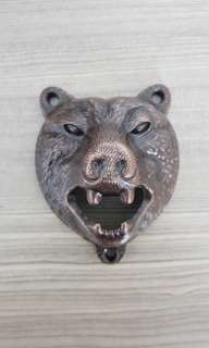 Bronze bear bottle opener