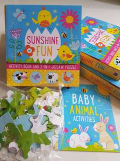 Sunshine Fun: Activity Book & 2-in-1 Jigsaw Puzzle Set