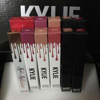 Kylie Lipsticks: Matte and Velvet Singles