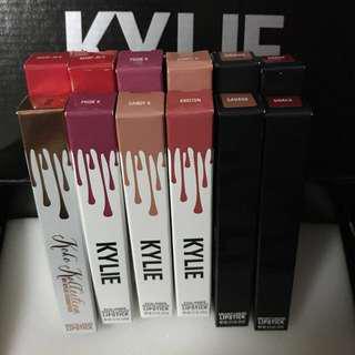 Kylie Lipstick: Matte/Velvet Liquid Lipsticks INSTOCK
