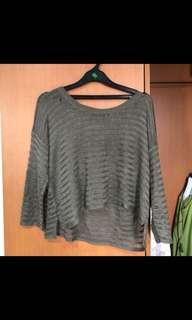 sweater panjang rajut tipis