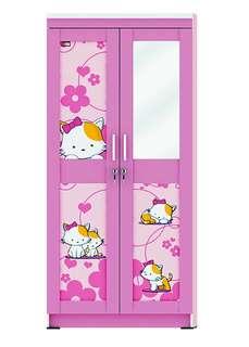 Lemari Pakaian Anak 2 Pintu Activ Happy Kitty LP 202