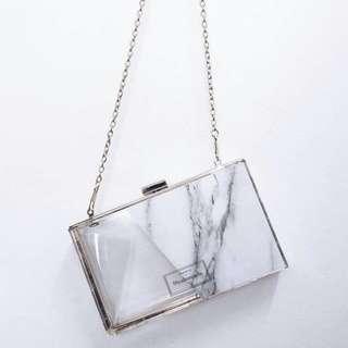 CUSTOM ACRYLIC CLUTCH marble