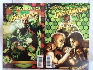DC COMICS CONVERGENCE THE GREEN LANTERN CORPS #1 & 2 SET