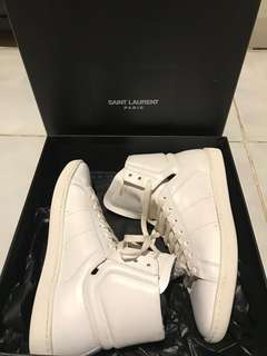 Yves Saint Laurent Paris/YSL White Sneakers High Top