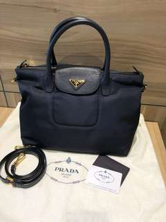 Prada Nylon Bag (Navy Blue)