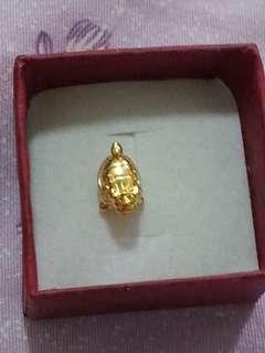 迷你龍龜,純金,9厘