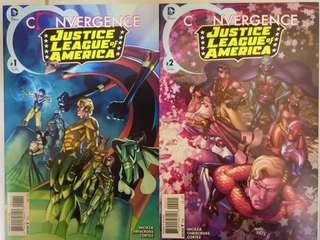 DC COMICS CONVERGENCE JUSTICE LEAGUE OF AMERICA #1 & 2 SET