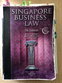 AB1301 Business Law Group A Textbook NTU (7th Edition)