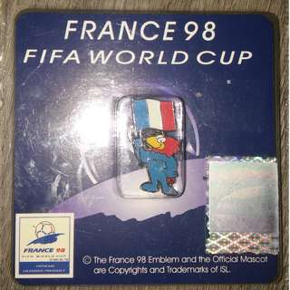 France 1998 World Cup Pin 法國世界杯襟針/ Made  in HK