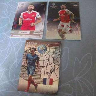 Olivier Giroud Topps/Panini trading cards for sale/trade (Lot of 3 cards)