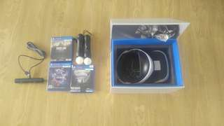 PlayStation VR headset with camera and move controllers