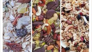 Muesli, granola, trail mix