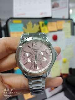 Alexander Christie Silver Pink Watch