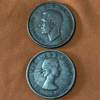 GB 2 Shillings, 1948, 1965