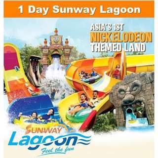 2x Sunway Lagoon Tickets (Valid on 21st July only)