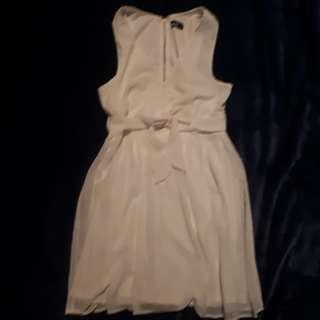 Flowy dottie white dress