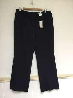 New Target $39 Au Size 14 Navy Blue Wide Leg Office Business Pants