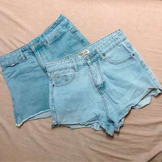 pre-loved shorts and skirts
