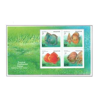 2002  12 Miniature Sheet  Definitive Series  FRESHWATER  FISHES  (High Value)