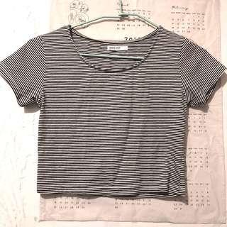 🚚 轉賣 Queen shop 短版條紋上衣  #女裝半價拉 Studio Doe Starmimi Mercci22