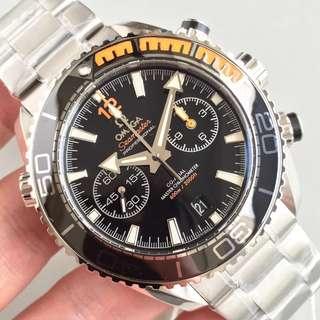 面交Check貨 OM工廠新品 Omega 歐米茄 海馬 Seamaster 計時款 左右眼 最新9900 機芯 男錶