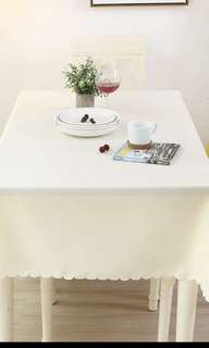 Beige table cloth instock