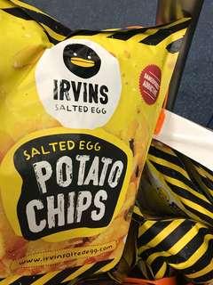 Irvin irvin's 鹹蛋薯片 大包