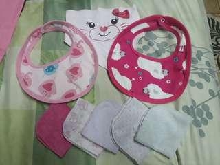 bib wash cloth set