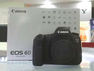 Canon EOS 6D body only. 100% Canon Malaysia Warranty, brand new
